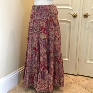 Ralph Lauren cotton tiered skirt